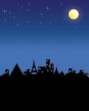 Noite toda a cidade.  Fotos de Stock