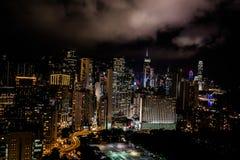 Noite Victoria Park Causeway Bay Hong Kong da arquitetura da cidade foto de stock royalty free