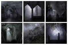Noites assustadores frias Imagens de Stock Royalty Free