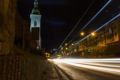 Noites de Bratislava fotografia de stock royalty free