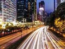 Noites de Hong Kong Fotografia de Stock