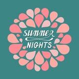 Noites de verão quentes ilustração stock