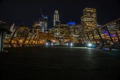 Noites em San Francisco do cais fotografia de stock royalty free