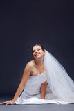 Noiva alegre Foto de Stock Royalty Free