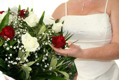 Noiva & flores Imagens de Stock