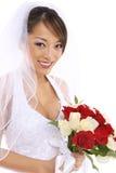Noiva asiática bonita no casamento Imagem de Stock