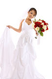 Noiva asiática bonita no casamento Imagens de Stock Royalty Free