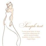 Noiva bonita Ilustração do vetor Imagens de Stock Royalty Free