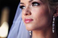 Noiva bonita na luz suave Foto de Stock Royalty Free