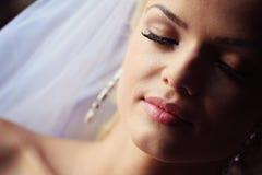 Noiva bonita na luz suave Foto de Stock