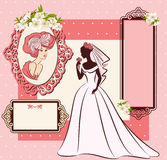 noiva bonita no vestido. ilustração do vetor