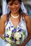 Noiva com flor imagens de stock royalty free