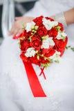 Noiva com flores imagem de stock royalty free
