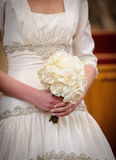Noiva com flores Foto de Stock Royalty Free