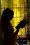 Noiva com flores fotografia de stock