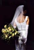 Noiva com ramalhete fotografia de stock royalty free