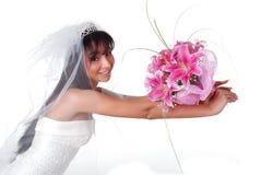 Noiva com ramalhete imagem de stock