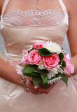 Noiva com ramalhete do casamento Imagens de Stock
