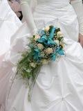 Noiva com ramalhete do casamento foto de stock royalty free