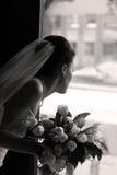 Noiva com um ramalhete imagem de stock royalty free