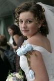 Noiva com um ramalhete Foto de Stock Royalty Free