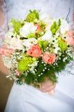 Noiva com um ramalhete do casamento Foto de Stock