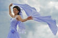 A noiva com um véu de vibração imagens de stock