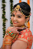 Noiva de sorriso - Índia Imagem de Stock Royalty Free