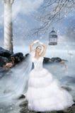 Noiva do Fairy-tale fotos de stock