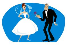 Noiva do orgulho Foto de Stock Royalty Free