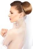 Noiva do penteado. Foto de Stock