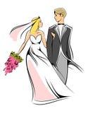 Noiva e noivo Fotografia de Stock