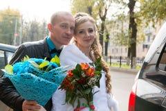 Noiva e noivo bonitos Fotografia de Stock