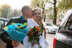 Noiva e noivo bonitos Imagens de Stock