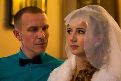 Noiva e noivo bonitos Foto de Stock