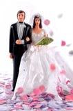 Noiva e noivo do Figurine fotografia de stock