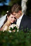 Noiva e noivo felizes Imagens de Stock