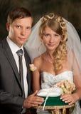Noiva e noivo felizes Foto de Stock
