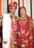 Noiva e noivo indianos Foto de Stock Royalty Free