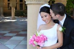 Noiva e noivo no casamento Imagens de Stock