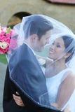 Noiva e noivo no casamento Foto de Stock