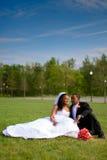 Noiva e noivo no dia do casamento Fotografia de Stock