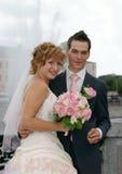 Noiva e noivo novos Foto de Stock