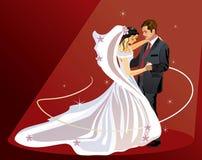 Noiva e noivo - vetor Imagem de Stock