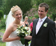 A noiva e o noivo 2 Fotos de Stock