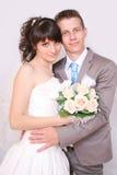 A noiva e o noivo Fotos de Stock