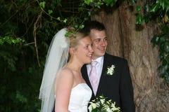 A noiva e o noivo imagem de stock royalty free