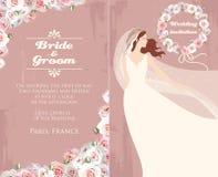 Noiva e rosas Fotografia de Stock Royalty Free