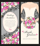 Noiva e rosas Imagens de Stock