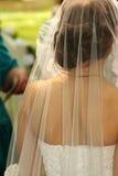 Noiva e véu Fotografia de Stock Royalty Free